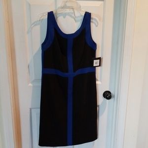 NWOT Ellen Tracy color block sheath dress